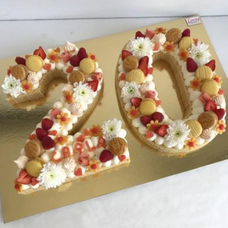 Number cake (chiffre décoré)